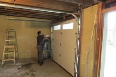 Garage doors re and re - during
