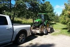 Tractor and bush-hog move 1